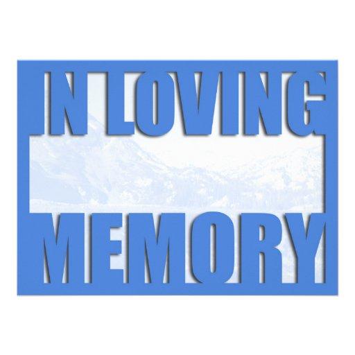 Invitación cariñosa del entierro de la memoria de