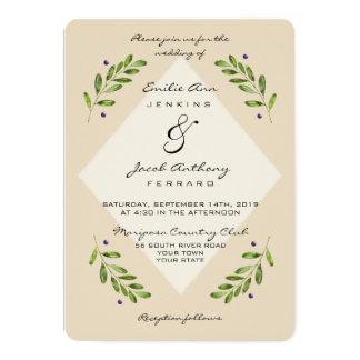 Invitación casual botánica moderna simple del boda