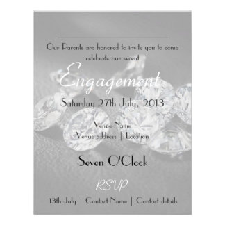 Invitación celebración del fiesta de compromiso