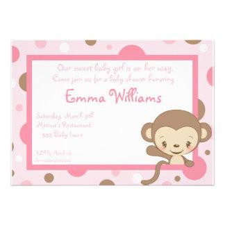 Invitación-Chica de la fiesta de bienvenida al beb