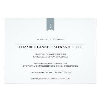 Invitación clásica de la bodas de plata de los