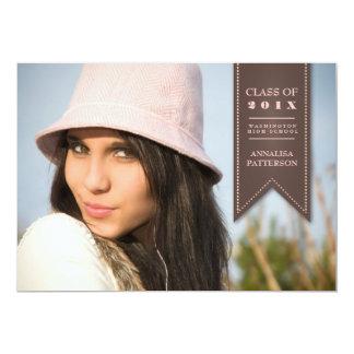 Invitación clásica de la foto de la graduación 2