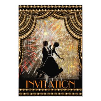 Invitación clásica del baile