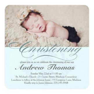 Invitación clásica del bautismo del bautizo