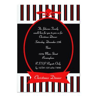 Invitación clásica del fiesta de cena de navidad