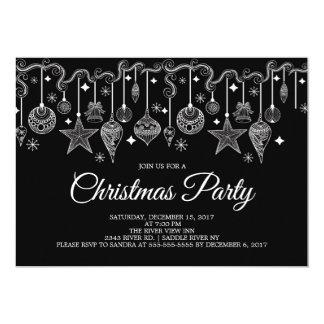Invitación colgante de la fiesta de Navidad de los