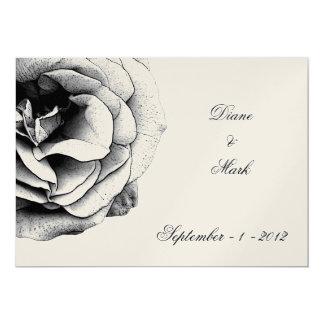 Invitación color de rosa oscura del boda