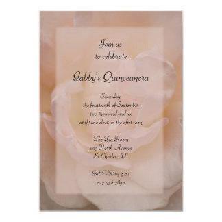 Invitación color de rosa rosada de lujo del fiesta