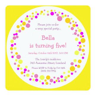 Invitación coloreada de la fiesta de cumpleaños