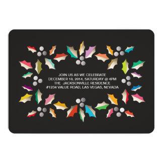 invitación colorida de la celebración de días invitación 12,7 x 17,8 cm