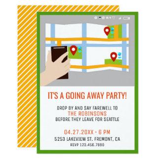 Invitación colorida del fiesta de despedida del