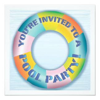 Invitación colorida del flotador de la diversión