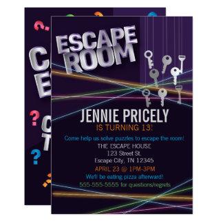 Invitación colorida del sitio del escape