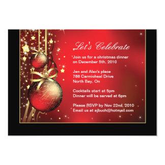 Invitación con clase del fiesta de cena de navidad invitación 12,7 x 17,8 cm