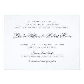 Invitación con clase elegante del boda del vintage invitación 12,7 x 17,8 cm