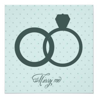 Invitación con los anillos de compromiso invitación 13,3 cm x 13,3cm