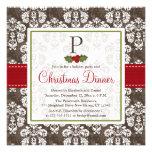 Invitación con monograma de la fiesta de Navidad d