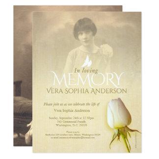 Invitación conmemorativa del entierro del brote