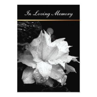 Invitación conmemorativa fúnebre de las gotas de invitación 12,7 x 17,8 cm