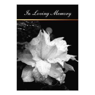 Invitación conmemorativa fúnebre del Clematis
