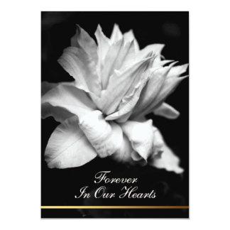 Invitación conmemorativa fúnebre del Clematis 1a Invitación 12,7 X 17,8 Cm