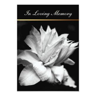 Invitación conmemorativa fúnebre del Clematis 1c Invitación 12,7 X 17,8 Cm