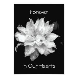 Invitación conmemorativa fúnebre del Clematis 3a
