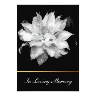Invitación conmemorativa fúnebre del Clematis 3c