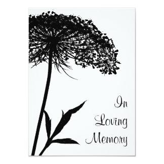 Invitación conmemorativa fúnebre del cordón de la