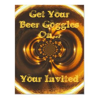 Invitación-Consiga sus gafas de la cerveza Invitación 10,8 X 13,9 Cm