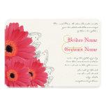 Invitación coralina y anaranjada del boda de la ma