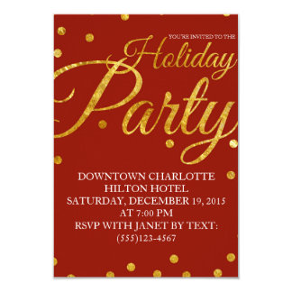 Invitación corporativa de la fiesta de Navidad del