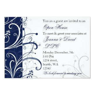 Tarjeta invitación corporativa del fiesta de la marina de