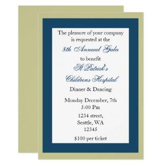 Tarjeta Invitación corporativa elegante del fiesta
