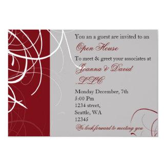 invitación corporativa roja elegante del fiesta