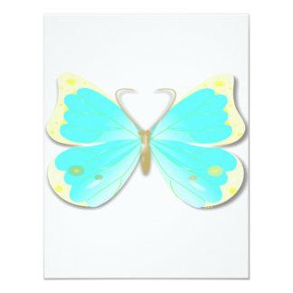 Invitación cortada mariposa