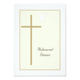 Invitación cristiana de la cena del ensayo -- Cruz