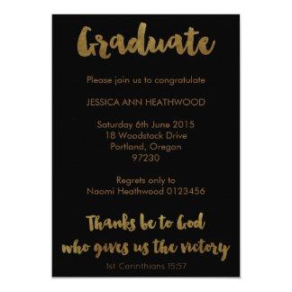 Invitación cristiana de la graduación - las
