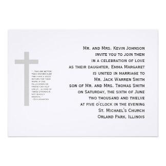 Invitación cristiana de los filamentos del cordón