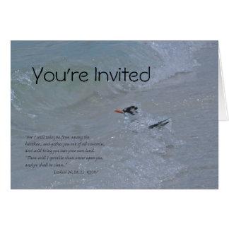 Invitación cristiana del bautismo (versión B) Tarjeta De Felicitación