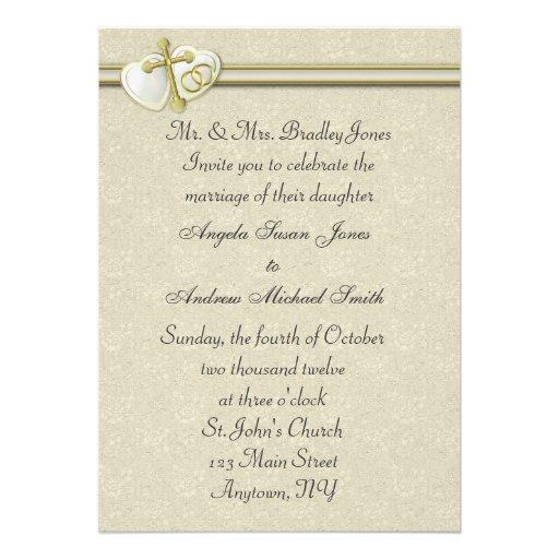 Invitación cristiana del boda