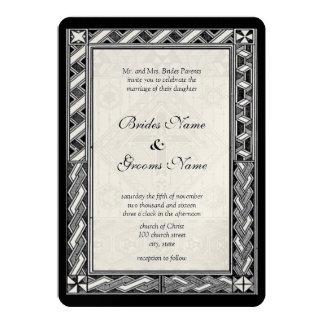 Invitación cristiana del boda de la cruz del