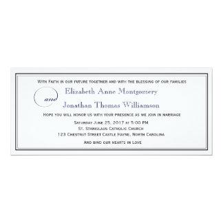 Invitación cristiana del boda de la escritura de