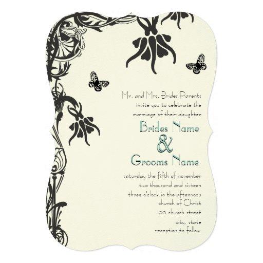 Invitación cristiana del boda de la flor del art d
