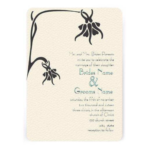 Invitación cristiana del boda de la flor del art d de Zazzle.