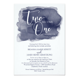 Invitación cristiana del boda - marina de guerra