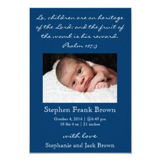 Invitación cristiana del nacimiento del bebé