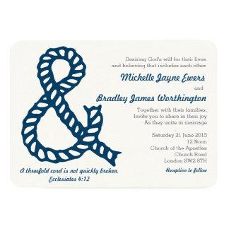 Invitación cristiana náutica del boda