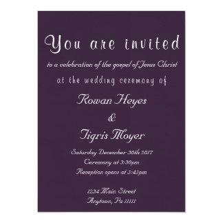 Invitación cristiana simple del boda