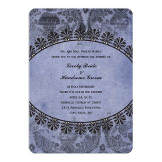 Invitación cruzada cristiana del boda del vintage